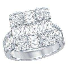 18 Karat Diamond Cocktail Ring 2.50 Carat