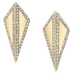 18 Karat Diamond Contour Isosceles Studs