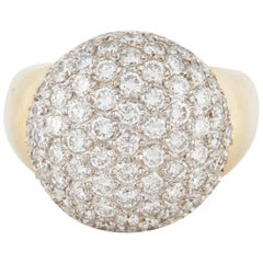 18 Karat Diamond Dome Ring