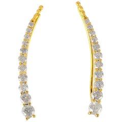 18 Karat Diamond Ear Wire