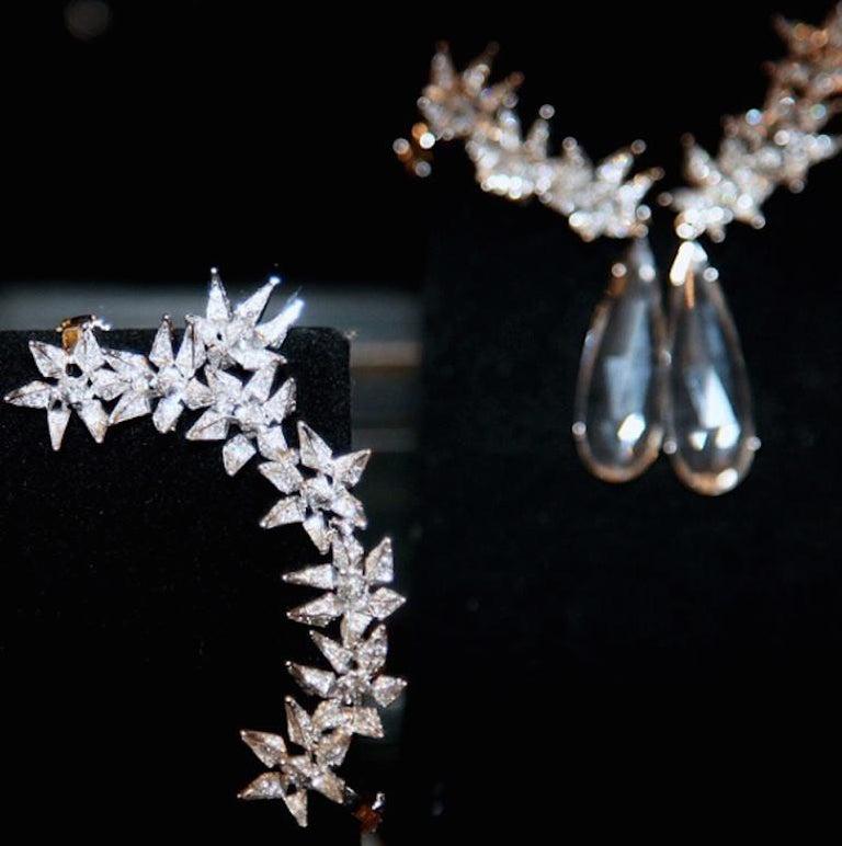 18 Karat Diamond Eclipse Spike Geometric Ear Cuff For Sale 3