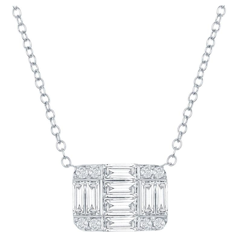 18 Karat Diamond Emerald Cut Pendant 2 Carat
