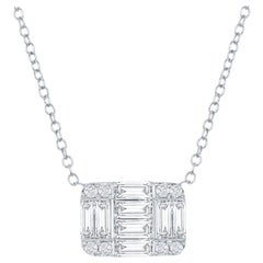 18 Karat Diamond Emerald Cut Pendant 2 Carat
