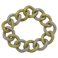 27 Karat Diamond Encrusted Incredible 18k Link Bracelet