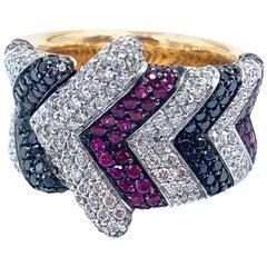 18 Karat Diamond Enigma Fashion Ring by Bulgari