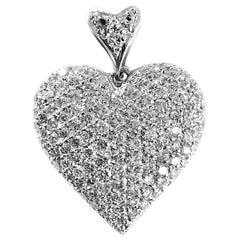 18 Karat Diamond Heart Pendant