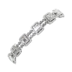 18 Karat Diamond Links Bracelet