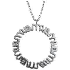 18 Karat Diamond Pendant and Chain Set 'Mom'