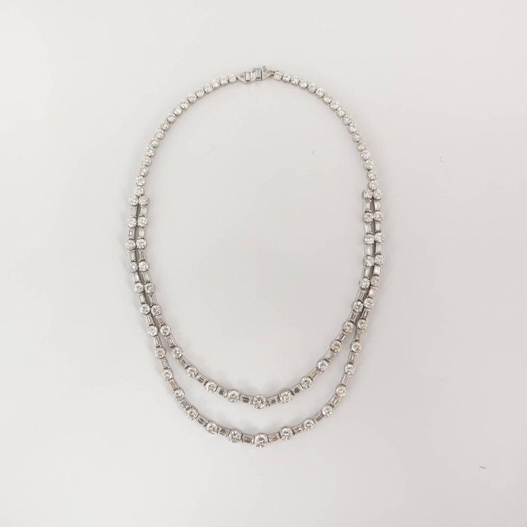 18 Karat Diamond Riviera Necklace For Sale 1