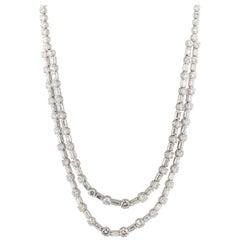 18 Karat Diamond Riviera Necklace