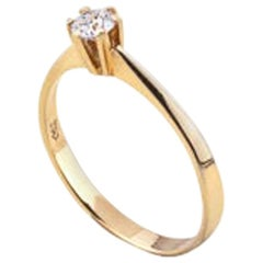 18 Karat Diamond Solitaire Ring