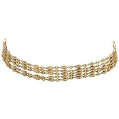 18 Karat Diamond Stardust Grand Choker Necklace