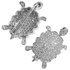 18 Karat Diamond Turtle Brooch Ladies