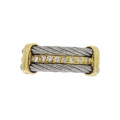 18 Karat Diamond Twisted Rope Ring
