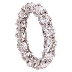 18 Karat Diamond U-Shape Shared Prong Eternity Band White Gold