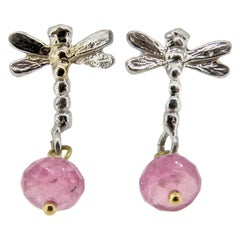 18 Karat Dragonfly Earrings