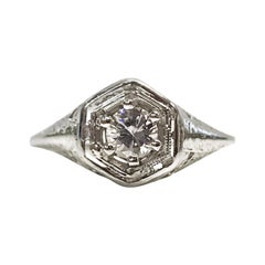 18 Karat Edwardian Diamond Ring