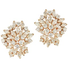 18 Karat Elegant Diamond Earring