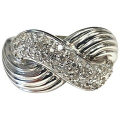 "18 Karat ""Endless Luck"" Diamond Swirl Ring"