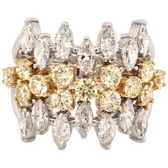 18 Karat Fancy Yellow Diamonds Made in Italy with Box