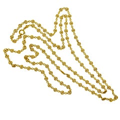 18 Karat French Long Chain, circa 1890