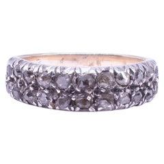 Georgian Double Row Half Hoop Diamond Band Ring, circa 1830