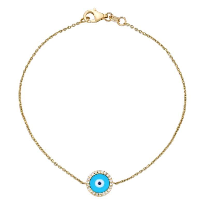 18 Karat Gold, 0.08 Carat, F Color, VS Clarity, Diamond Bracelet