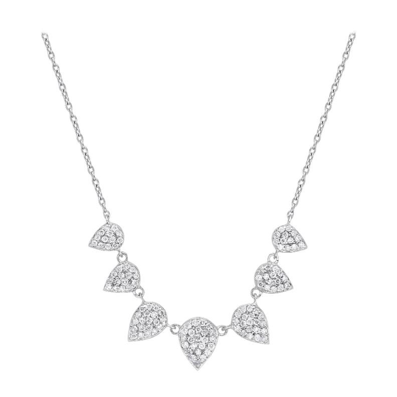 18 Karat Gold, 0.46 Carat, F Color, VS Clarity, Diamond Drop Pendant Necklace