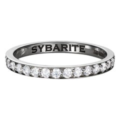 Sybarite Jewellery Band Ring 18 Karat Gold 0.64 Carats Diamonds