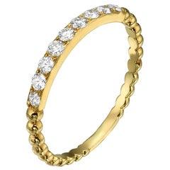 18 Karat Gold, 0.77 Carat, F Color, VS Clarity, Eternity Diamond Ring Band