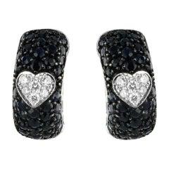 18 Karat Gold 1 Carat Diamond Earrings