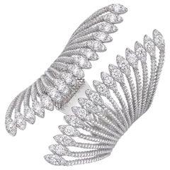 18 Karat Gold, 1.03 Carat, F Color, VS Clarity, Multi-Layer Diamond Crusted Ring