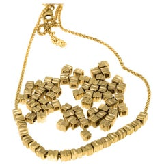 18 Karat Gold 18 Beads Necklace