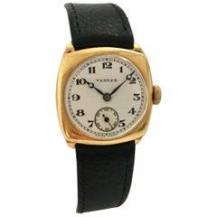 18 Karat Gold 1930s Vintage Vertex, Supreme Hand-Wind Wristwatch