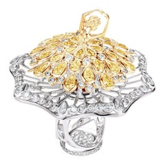 Sybarite Jewellery Spinning 3.61 Carat Diamond Cocktail Ring 18 Karat Gold