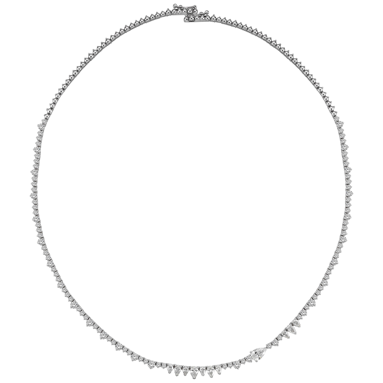 18 Karat Gold 4.50 Carat Diamond Necklace