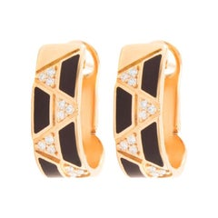 18 Karat Gold and 0.20 Carat Colorless Diamonds Elixir Hoops by Alessa Jewelry