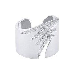 18 Karat Gold and 0.25 Carat White Diamond Signature Pave Ring, Alessa Jewelry