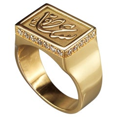"""18 Karat Gold and 0.50 Carat Diamond Limited """"Happiness"""" Chevalier Ring"""