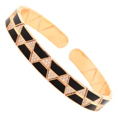 18 Karat Gold and 0.85 Carat White Diamond Elixir Bracelet by Alessa Jewelry