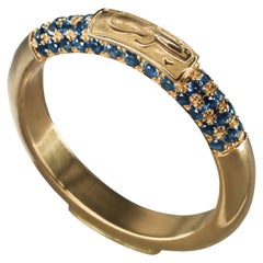 """18 Karat Gold and 0.90 Carat Sapphire Limited """"Happiness"""" Band Ring"""