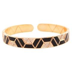 18 Karat Gold and 0.91 Carat White Diamond Elixir Bracelet by Alessa Jewelry