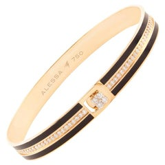 18 Karat Gold and 1.21 Carat White Diamonds Equality Bracelet by Alessa Jewelry