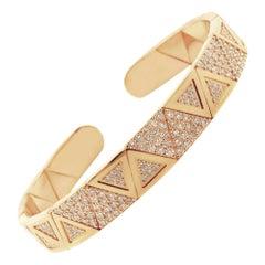 18 Karat Gold and 2.6 Carat White Diamond Element Bracelet by Alessa Jewelry