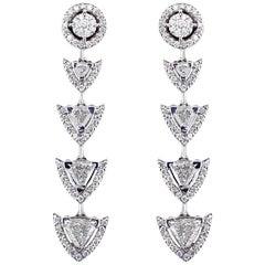 Alessa Spear Earrings 18 Karat White Gold Amara Collection