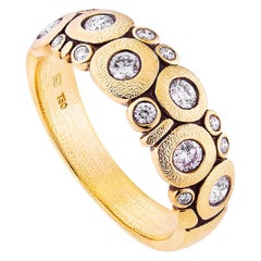 """Alex Sepkus Yellow Gold and Diamond """"Candy"""" Ring"""
