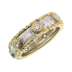 18 Karat Gold and Diamond Eternity Band Handmade in Florence, Italy
