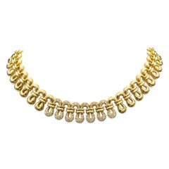 18 Karat Solid Gold and Diamond Necklace