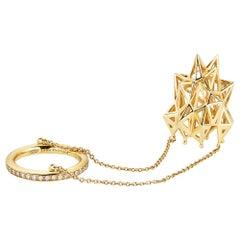 18 Karat Gold and Diamond Stella Thimble Ring