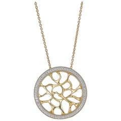 18 Karat Gold and Diamond Web Necklace by John Brevard